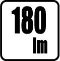 Svetelný tok v lumenoch - 180 lm