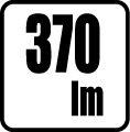 Svetelný tok v lumenoch - 370 lm