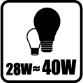 Náhrada klasickej žiarovky - 28W = 40W