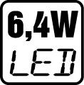 Príkon LED 6,4W