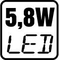 Príkon LED 5,8W