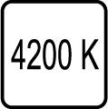 Teplota chromatickosti 4200K - denné biele svetlo