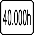Svietivosť 40.000 hod.