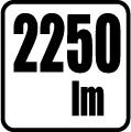Svetelný tok v lumenoch - 2250 lm