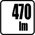 Svetelný tok v lumenoch - 470lm