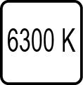Teplota chromatickosti 6300K - Studené denné svetlo
