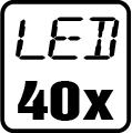Počet LED čipov - 40x