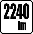 Svetelný tok v lumenoch - 2240 lm