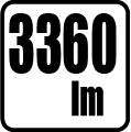 Svetelný tok v lumenoch - 3360 lm
