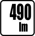 Svetelný tok v lumenoch - 490 lm