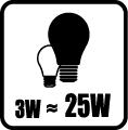 Náhrada klasickej žiarovky - 3W=25W