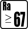 Index podania farieb RA>67