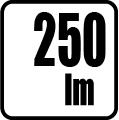 Svetelný tok v lumenoch - 250lm