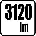 Svetelný tok v lumenoch - 3120lm