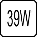 Maximálny príkon 39W