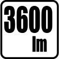 Svetelný tok v lumenoch - 3600 lm