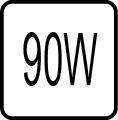 Maximalný príkon 90W