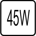Maximálny príkon 45W