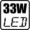 Maximálny príkon LED - 33W