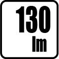 Svetelný tok v lumenoch - 130lm