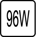 Maximálny príkon 96W