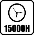Svietivosť 15.000 hod.