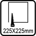 Výrez 225x225 mm