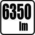 Svetelný tok - 6350 lm