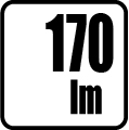 Svetelný tok v lumenoch - 170lm