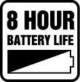 Životnosť batérie 8 hod.