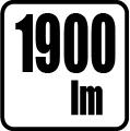 Svetelný tok v lumenoch - 1900 lm