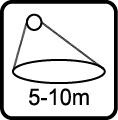 Uhol svietenia - 5-10m