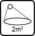 Rozsah dezinfikovanej oblasti 1-2m2