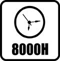 Životnosť 8000 hod