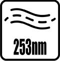 Vlnová dĺžka žiarenia 253 nm