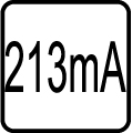 Spotreba el.prúdu - 213mA